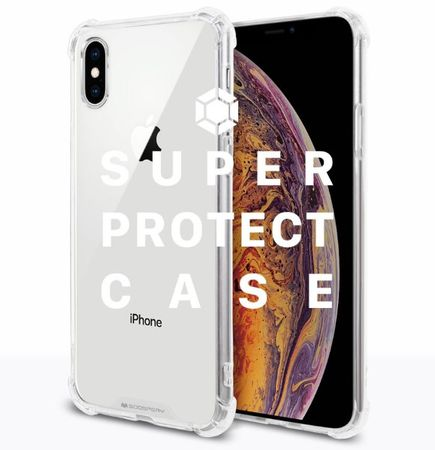 Goospery - Samsung Galaxy A6+ (2018) Handyhülle - Solides Plastik Case - Super Protect Series - transparent