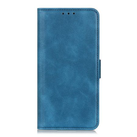 Samsung Galaxy A80 Handy Hülle - Classic III Leder Bookcover Series - blau