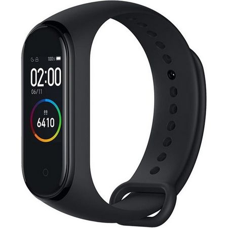 Xiaomi - Mi Smart Band 4 Bluetooth Fitness Tracker (5ATM) mit 0.95 Zoll AMOLED Farbdisplay - schwarz