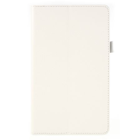Huawei MediaPad M5 8.4 Hülle - Litchi Bookcover mit Standfunktion - weiss