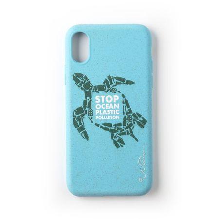 Wilma - iPhone XS / X Hülle - biologisch abbaubar - Stop Plastic Turtle - blau