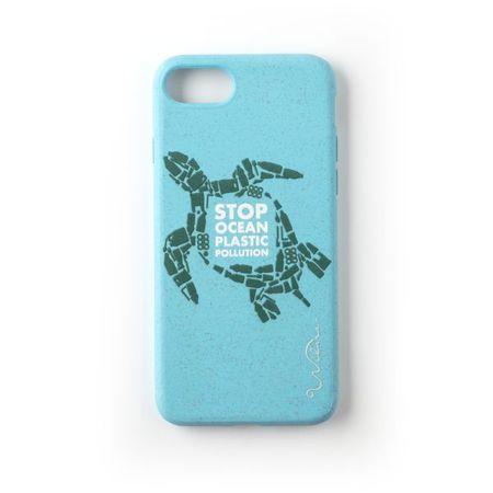 Wilma - iPhone 8 / 7 / 6S / 6 Hülle - biologisch abbaubar - Stop Plastic Turtle - blau