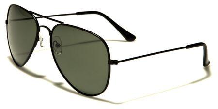 Air Force Polarized - Herren / Damen Sonnenbrille Pilotenbrille - Aviator - grün/schwarz