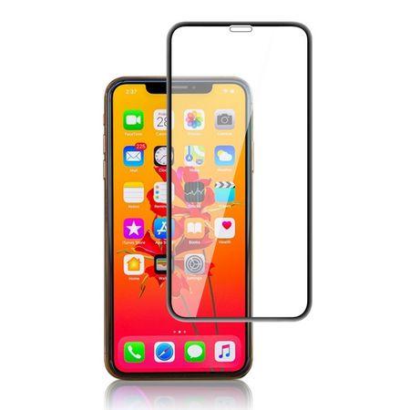 iPhone 11 Pro / XS / X Panzerglas 2.5D Full Cover - Full Glue Displayschutz (0.33 mm) - schwarz