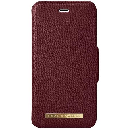 iDeal of Sweden - iPhone 8 Plus/7 Plus/6S+/6+ Handyhülle, Designer Bookcase FASHION - burgundy