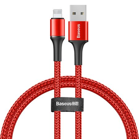 Baseus - Lightning Lade- und Datenkabel (0.5 m) - 2.4A Fast Charge - Halo Data Series - rot