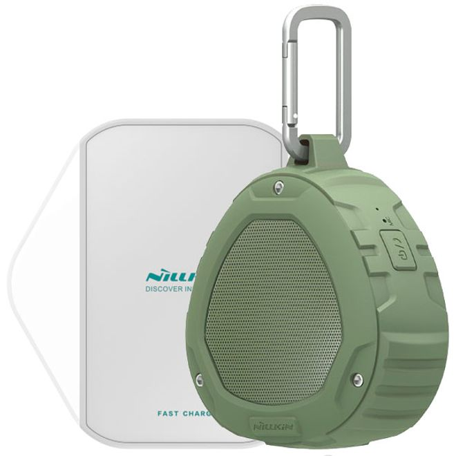 Nillkin Nillkin - 2 in 1 Set - IPX4 Bluetooth Lautsprecher und Qi Wireless Fast Charging Pad - grün