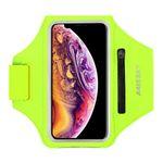 """Universal - Sport Armband für Smartphones bis 6.5"""" - Fach für AirPods Ladecase - neongelb"""