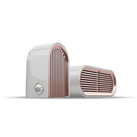 BOKE - Stereo Bluetooth Lautsprecher Paar (2x 5W) - mit Magnet zusammen positionieren - weiss/rosegold