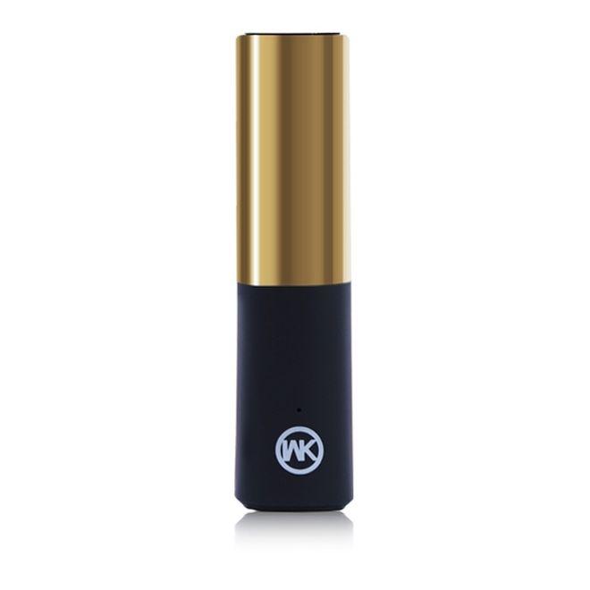 WEKOME Mini Power Bank 2400mAh - Lipstick Series - gold