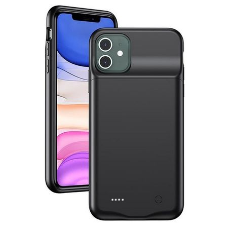 USAMS - iPhone 11 Akku Case 4500mAh  - 2 in 1 TPU Hülle und Power Bank - schwarz