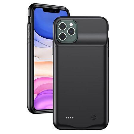 USAMS - iPhone 11 Pro Max Akku Case 4500mAh  - 2 in 1 TPU Hülle und Power Bank - schwarz