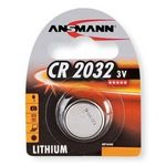 Ansmann - Lithium Knopfzelle CR2032 1 Stück - Spannung 3V